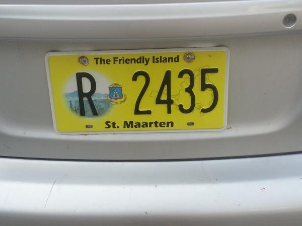 st maarten license plate